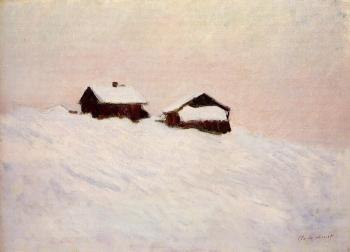 Claude Oscar Monet : Houses in the Snow