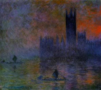 Claude Oscar Monet : Houses of Parliament, Fog Effect