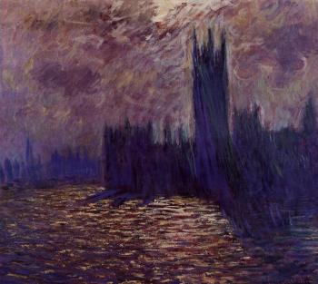 Claude Oscar Monet : Houses of Parliament, Reflection of the Thames