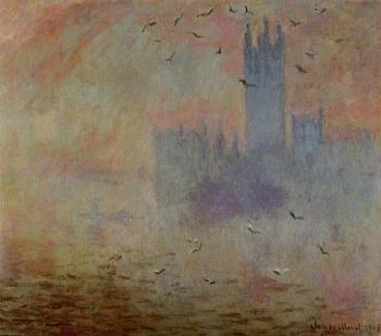 Claude Oscar Monet : Houses of Parliament, Seagulls