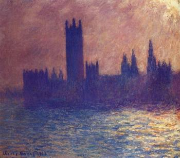 Claude Oscar Monet : Houses of Parliament, Sunlight Effect