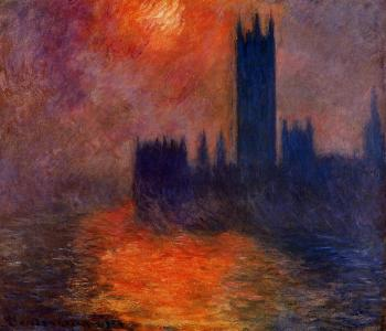 Claude Oscar Monet : Houses of Parliament, Sunset