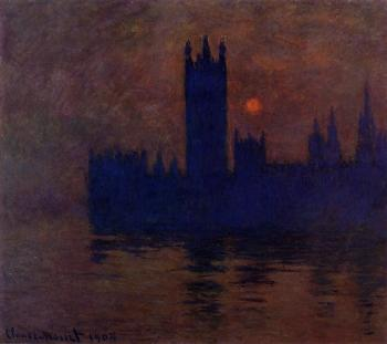 Claude Oscar Monet : Houses of Parliament, Sunset II