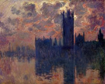 Claude Oscar Monet : Houses of Parliament, Sunset III