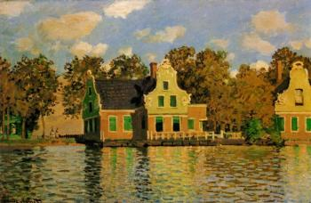 Claude Oscar Monet : Houses on the Zaan River at Zaandam