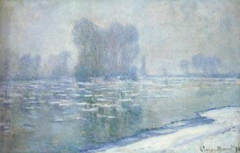 Claude Oscar Monet : Ice Floes, Misty Morning