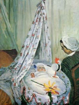 Claude Oscar Monet : Jean Monet in His Cradle