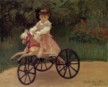 Claude Oscar Monet : Jean Monet on His Horse Tricycle