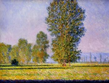 Claude Oscar Monet : Landscape with Figures, Giverny