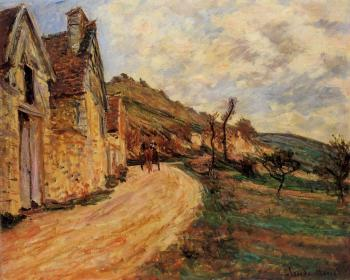 Claude Oscar Monet : Les Roches at Falaise near Giverny