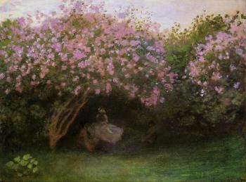 Claude Oscar Monet : Lilacs, Grey Weather