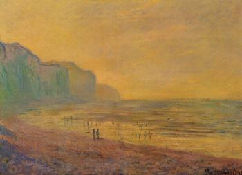 Claude Oscar Monet : Low Tide at Pourville, Misty Weather