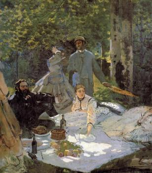 Claude Oscar Monet : Luncheon on the Grass, Center Panel