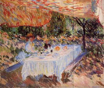 Claude Oscar Monet : Luncheon under the Tent
