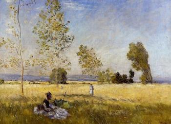 Claude Oscar Monet : Meadow at Bezons