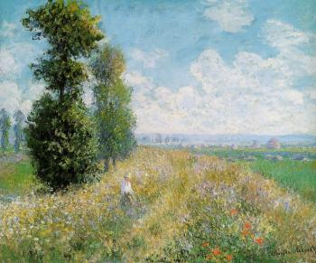 Claude Oscar Monet : Meadow with Poplars