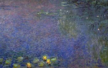 Claude Oscar Monet : Morning, right center detail