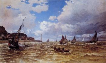 Claude Oscar Monet : Mouth of the Seine at Honfleur