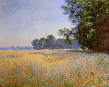 Claude Oscar Monet : Oat and Poppy Field