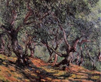 Claude Oscar Monet : Olive Trees in Bordighera