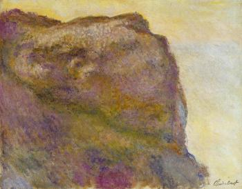 Claude Oscar Monet : On the Cliff at Petit Ailly