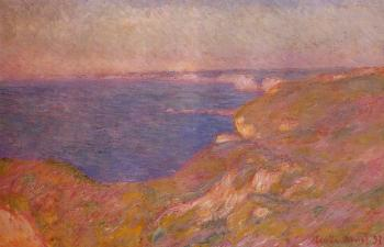 Claude Oscar Monet : On the Cliff near Dieppe