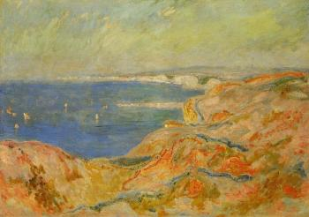 Claude Oscar Monet : On the Cliff near Dieppe II