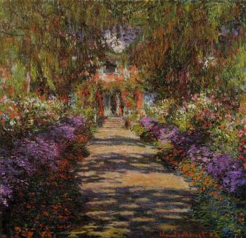 Claude Oscar Monet : Pathway in Monet's Garden at Giverny