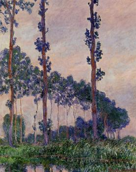 Claude Oscar Monet : Poplars in Grey Weather