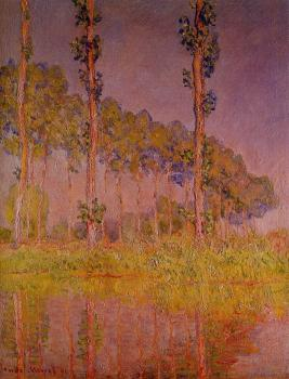 Claude Oscar Monet : Poplars in Spring