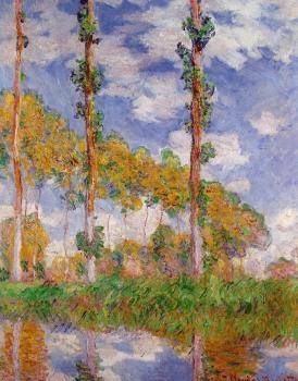 Claude Oscar Monet : Poplars in Summer