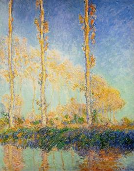 Claude Oscar Monet : Poplars in the Autumn