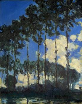 Claude Oscar Monet : Poplars on the Banks of the River Epte
