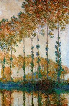 Claude Oscar Monet : Poplars on the Banks of the River Epte in Autumn