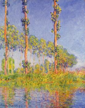 Claude Oscar Monet : Poplars, Autumn Effect