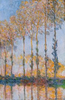 Claude Oscar Monet : Poplars, White and Yellow Effect