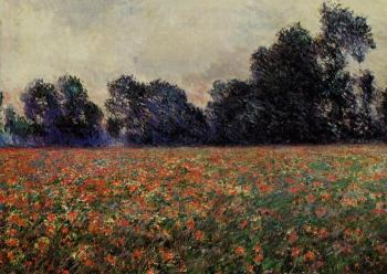 Claude Oscar Monet : Poppies at Giverny