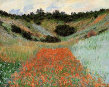 Claude Oscar Monet : Poppy Field in a Hollow near Giverny II