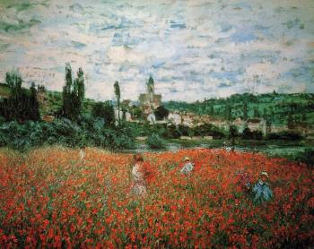 Claude Oscar Monet : Poppy Field near Vetheuil