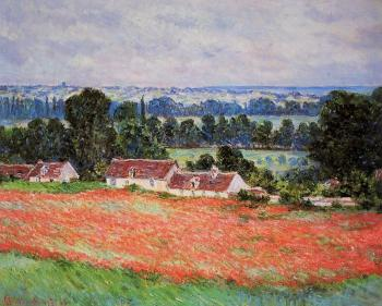 Claude Oscar Monet : Poppy Field, Giverny