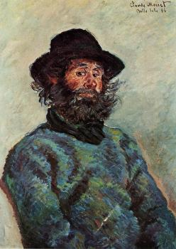 Claude Oscar Monet : Portrait of Poly, Fisherman at Kervillaouen