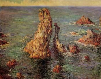 Claude Oscar Monet : Pyramids at Port-Coton