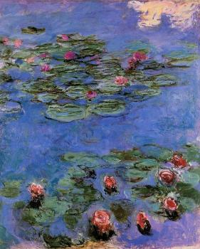 Claude Oscar Monet : Red Water-Lilies