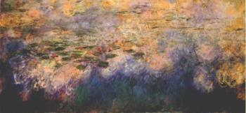 Claude Oscar Monet : Reflections of Clouds on the Water-Lily Pond, Center Panel