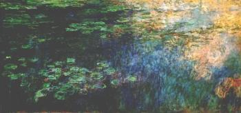 Claude Oscar Monet : Reflections of Clouds on the Water-Lily Pond, Left Panel