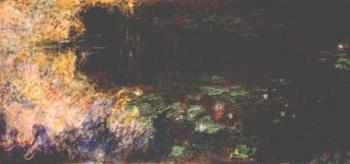 Claude Oscar Monet : Reflections of Clouds on the Water-Lily Pond, Right Panel