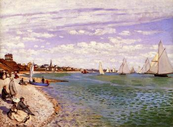 Claude Oscar Monet : Regatta at Sainte-Adresse