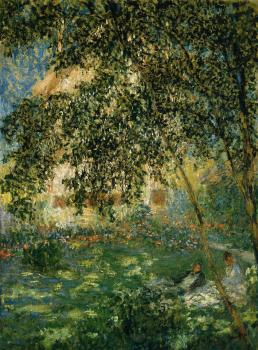 Claude Oscar Monet : Relaxing in the Garden, Argenteuil