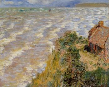Claude Oscar Monet : Rising Tide at Pourville