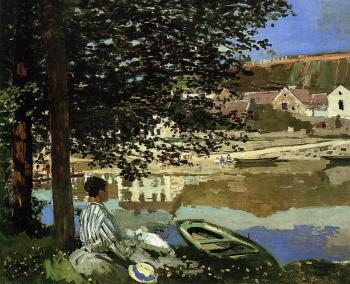 Claude Oscar Monet : River Scene at Bennecourt